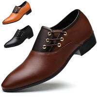 Men Business Leather Shoes Formal Oxford Shoes Fashion Casual Pointed Toe Shoes