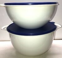 2- Piece Tupperware Thatsa Mega Bowls Set 32 & 42 Cups W/Lids
