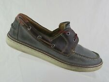 JOHNSTON & MURPHY Suede Grey Sz 8.5 M Boat Shoes