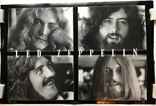 Led Zeppelin Band Members Vintage B/W Poster