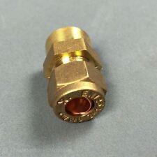 "8mm x 1/4"" BSP Female Compression Coupling Brass CxFI"