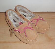 BNIB Clarks womens ESKIMO CLOUD tan suede slippers size UK 8 EU 42