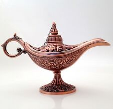NEW ALADDIN LAMP TIBET GENIE OIL LAMP COPPER MAGIC ALI BABA CURIO