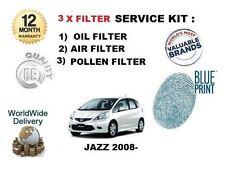 PARA Honda Jazz 1.4 VTEC L13Z1 2008- > NUEVO Aire Aceite Pollen 3