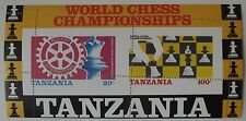 TANZANIA WORLD CHESS CHAMPIONSHIP, ROTARY, ERROR BLOCK SHEET