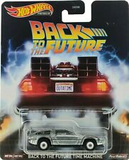 Hot Wheels Metal Back to The Future Time Machine Retro Real Riders DJF49 New