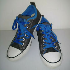 CONVERSE ALL STAR Gray Blue White Low Top Shoes Thick Tongue Mens 7 Womens 9