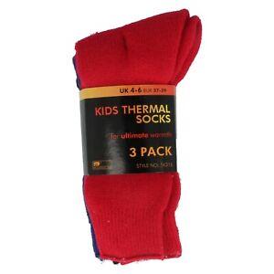 Filles Rjm 3 Paire Paquet Chaussettes Thermiques Pour Ultime Chaleur Hiver SK315