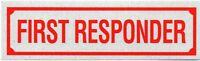 """FIRST RESPONDER Highly Reflective Decal - 1 1/4"""" x 4 1/4"""" -First Responder Decal"""