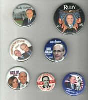 7 Campaign pinback RUDY GIULIANI President 2000 2008 pin TRUMP Lawyer NYC Mayor