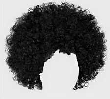 70s Black Afro Wig Adult Fancy Dress Groovy Disco Unisex 1970s Costume Accessory