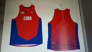 6193 puma Cuba Tank Top Singlet Vest Sleeveless Rio 2016 Olympics Sauce