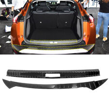 2* Steel Black Outer + Inner Rear Sill Bumper Cover Plate For Peugeot 2008 2020