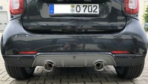 Fox Exhaust Smart Fortwo 453 2x100mm Double Pipe For Orginal Brabus/Tuning