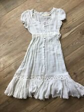 Jen's Pirate Booty Free People Romantic Gauze White Dress Sm