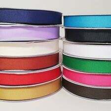 "Solid Grosgrain Ribbon 50 Yards Roll, 3/8"" 5/8"" 7/8"" 1.5"" Bulk"