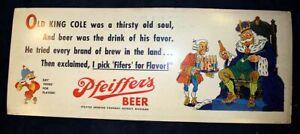 Trolley Car Ad WWII era Pfeiffer's Beer Detroit Genesee Bank Flint MI  War Bonds