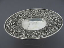 S.KIRK & SON REPOUSSE STERLING SILVER OVAL TRAY