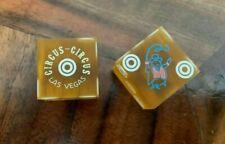 Circus Circus Las Vegas Casino Amber Ringmaster Dice Bulls Eye Pips R-10