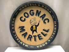 "Vintage Cognac Martell & Soda Advertising Tin Tray Litho England Collectibles """