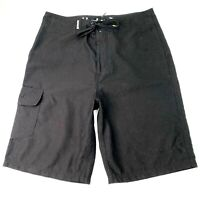 Hurley Men's Size 30 Black Knee Length Draw String Pocket Surfing Board Shorts