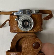 Mini Miniature Subminiature Vintage Spy Hit Satellite Camera Leather Case Japan