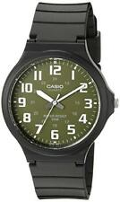 Casio Men's Quartz Green Analog Dial Black Resin Band 43.5mm Watch MW240-3BV