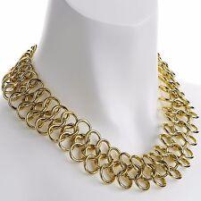 Color de Oro Joyería de Moda Estilo Cleopatra Gargantilla Collar Cadena Tejido de correo