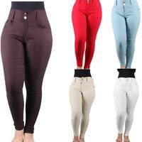 Women Skinny Slim  Stretch Pencil Pants Tight Jeans Push Up Bum Bottom Trousers