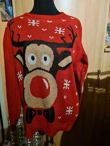 Pulli Pullover Weihnachten Weihnachtspulli Gr.M Rentier
