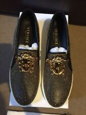 VERSACE MEDUSA STUDDED SLIP ON SNEAKERS SKATE SHOES UK 7/EU 41 £895