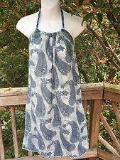 New_Boho Halter Dress / Beach Cover Up_Paisley Print_Free Size (Fits sizes S-M)