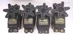 FUTABA FP-S148 STANDARD SIZE  SERVOS QUANTITY 4  + HORNS  MOUNTS GOOD CONDITION