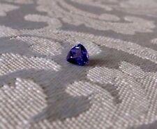 "7mm Trillion ""A"" Quality Natural Tanzanite Gemstone .90 Carat Appraised $1650.00"