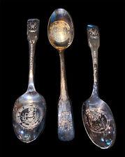 International Bicentennial Spoons- 3 - Pennsylvania, Delaware, New Jersey Vtg