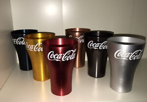 2020 Mcdonalds Coke Cup Glass Complete Blue Charcoal Gold Rose Gold Red Silver