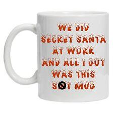 SECRET SANTA MUG funny novelty tea coffee gift women' mens office christmas gift