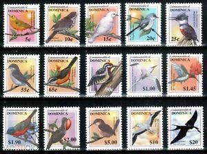Dominica 2001 birds  fauna set MNH