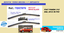 COPPIA TERGI TERGICRISTALLI SPAZZOLE FIAT PANDA 3 DAL 2012 2013 2014 2015 2016