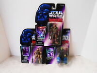 STAR WARS 3 FIGURES SHADOWS OF THE EMPIRE LEIA CHEWBACCA PRINCE XIZOR 1996 NEW