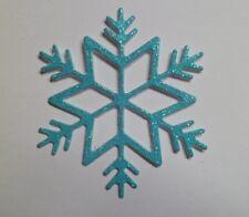 Snowflakes-Die cut-Ice Blue Glitter Card x 20
