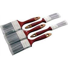 NUOVO 5PZ Paint Brush Set manico in legno decorazione pittura pittori pennelli fai da te