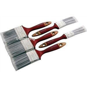 New 5pc Paint Brush Set Wooden Handle Decorating Painting Painters DIY Brushes