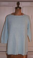 TALBOTS~NWT~MISTY GREEN BASKETWEAVE SWEATER~cotton~spring/summer~3/4 sleeve 1X