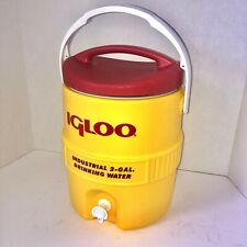 Igloo 421 2-Gal Heavy-Duty Industrial Drinking Water Cooler, Hi-Vis Yellow & Red