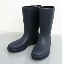 New Authentic GUCCI Mens Rain Boots SHOES 8G Navy w/Interlocing G 202752 4055