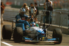 Jean Alesi Hand Signed Benetton Photo 9x6 Gerhard Berger Taxi.