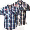 Mens Check Shirt Tokyo Laundry 1H 4515 Casual Short Sleeve Cotton S, M, L & XL