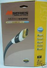 Monster Cable M650HD  HDMI cable 8 feet long 6.68 Gbps