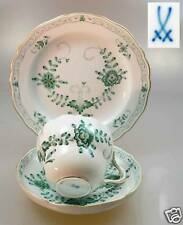 """Mocha dishes """"Ind Painting 2-grün"""" Meissen - First Quality New"""
